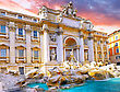 Fountain Di Trevi - Most Famous Rome's Fountains In The World. Italy stock photo