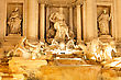 Fountain Di Trevi - Most Famous Rome's Fountains In The World. Italy. Night Scene