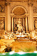 Fountain Di Trevi - Most Famous Rome's Fountains In The World. Italy. Night Scene stock photography