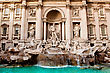 Fountain Di Trevi - Most Famous Rome's Fountains In The World. Italy. stock photo