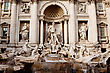 Fountain Di Trevi - Most Famous Rome's Fountains In The World. Italy.