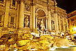 Fountain Di Trevi - Most Famous Rome's Fountains In The World. Italy. stock photography