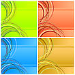 Four abstract square backgrounds.Four various colors