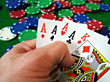 Four Of A Kind Poker Hand stock photography