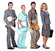 Four People And Their Occupations stock photography
