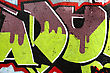 Fragment Of The Cement Wall With Graffiti stock photography
