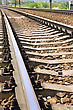 Fragment Of The Rails Ways stock photo