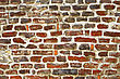 Fragment Of Old Brick Wall Background Close Up stock photo