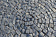 Fragment Of A Pavement In The Form Of A Circle stock image