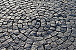 Fragment Of A Pavement In The Form Of A Circle stock photography