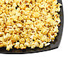 Fragment Of Plate With Fresh Caramel Popcorn. Isolated