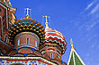 Fragment Of St.Basil Cathedral, Moscow, Russia stock photo
