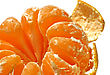 Fragment Of Tasty Mandarin (tangerine) stock photography