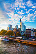 Frankfurt Am Maine, Germany Cityscape At Sunset