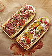 French Bread Pizza With Grilled Vegetables And Pepperoni