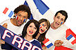 French Soccer Supporters stock image