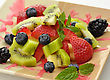 Fresh Fruit Salad Close Up stock photo