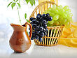 Fresh Fruits And Pitcher stock image