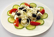 Fresh Greek Salad stock photography