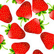 Fresh Juicy Strawberries Pattern, Seamless Background