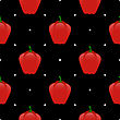 Fresh Red Seamless Pattern On Black Background
