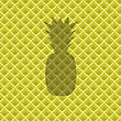 Fresh Ripe Pineapple Pattern. Tropical Fruit Background