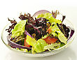 Fresh Salad Close Up stock photo