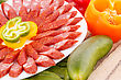 Fresh Sausages And Vegetables Closeup Picture