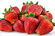 Fresh Strawberries On White Background ,close Up stock photography