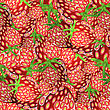 Fresh Strawberry Fruit Seamless Pattern. Sweet Dessert Background