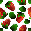 Fresh Strawberry Seamless Pattern. EPS 10 Vector Illustration With Transparency
