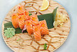 Fresh Sushi On A Platter Is Cooled With Ice stock photography
