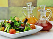 Fresh Vegetable Salad With Salad Dressings stock photography