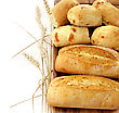 Freshly Baked French Bread On A Wooden Board stock image