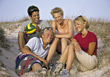 Couples Lifestyle Friends at the Beach stock photo