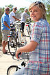 Biking Friends Going On A Bike Ride Together stock image