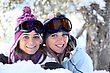 Friends In The Snow stock photography
