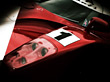 Front Hood Of Racing Car stock photo