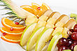 Fruit Assortment Closeup At Plate stock photography
