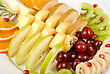 Fruit Assortment Closeup At Plate stock image