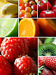 Zoom Fruit Mosaic stock photo