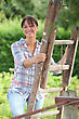 Fruit Picker In The Countryside stock image