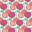 Fruits Seamless Health Pattern For Your Design stock illustration
