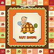 Funny Baby Boy Announcement Card stock illustration