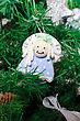 Funny Decorative Angel On Xmas Tree stock photo