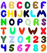 Funny Font Design. Eps 10 Vector Illustration Without Transparency