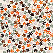 Funny Starfish Seamless Pattern, Abstract Background