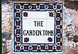 Garden Tomb Sign In Jerusalem, Israel stock photography