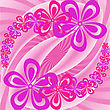 Garlands Of Pink And Lavender Flowers On The Twisted Background stock illustration