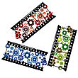 Gears On Filmstrips In Red, Green And Blue
